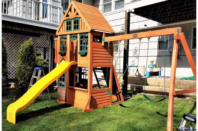 Swing set and playsets, playgrounds installation