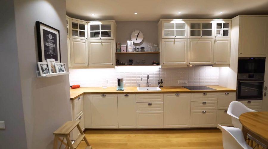 Corner kitchen with original sink
