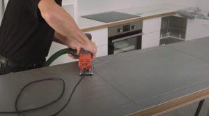 Installing electric hob